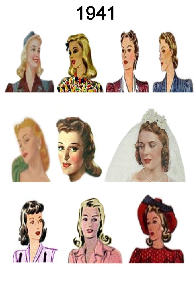 1940s Fashion Hairstyles 1940 Fashion Gallery