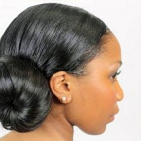 African American Bun Updo 2013 Pictures
