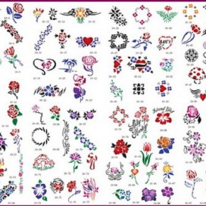 Airbrush Body Paint Tattoo Stencils Pictures
