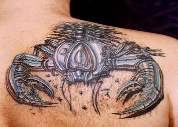 Amazing 3D Scorpion Tattoo Design For Guys