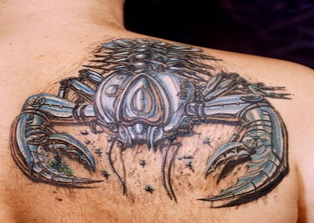 Amazing 3D Scorpion Tattoo Design For Guys Pictures