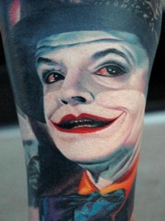 Amazing Joker Face Tattoo Ideas