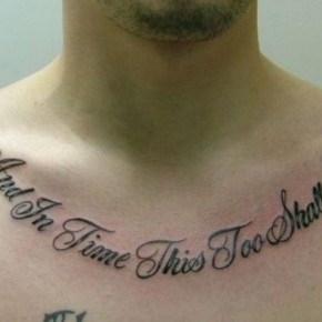 Artistic Good Tattoo Quotes For Guys Pictures