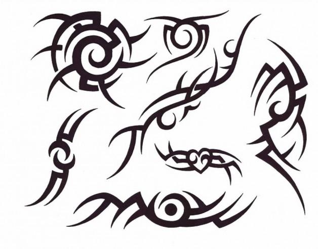 Artistic Tribal Tatto Stencil Designs