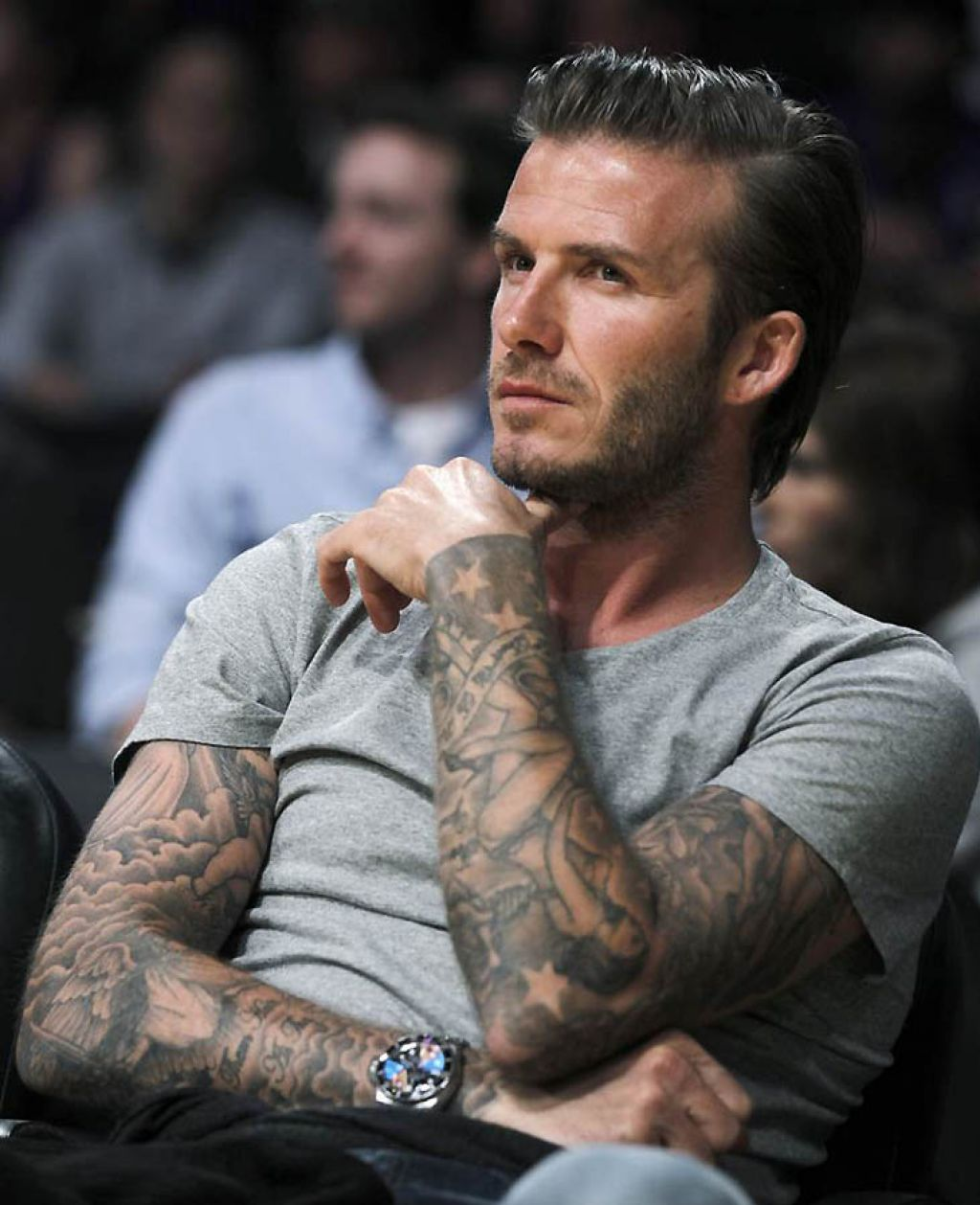 Awesome David Beckham Full Sleeve Tattoos Pictures