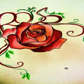Awesome Rose Tattoo Design By Fpista Pictures