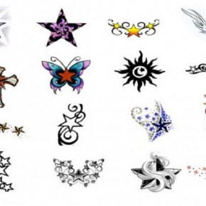 Awesome Star Tattoo Stencils Designs Pictures