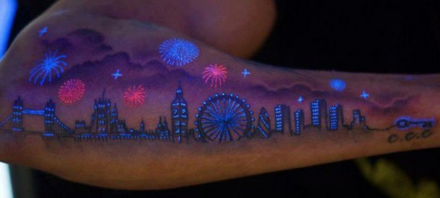 Awesome Uv Tattoo Growing Popularity