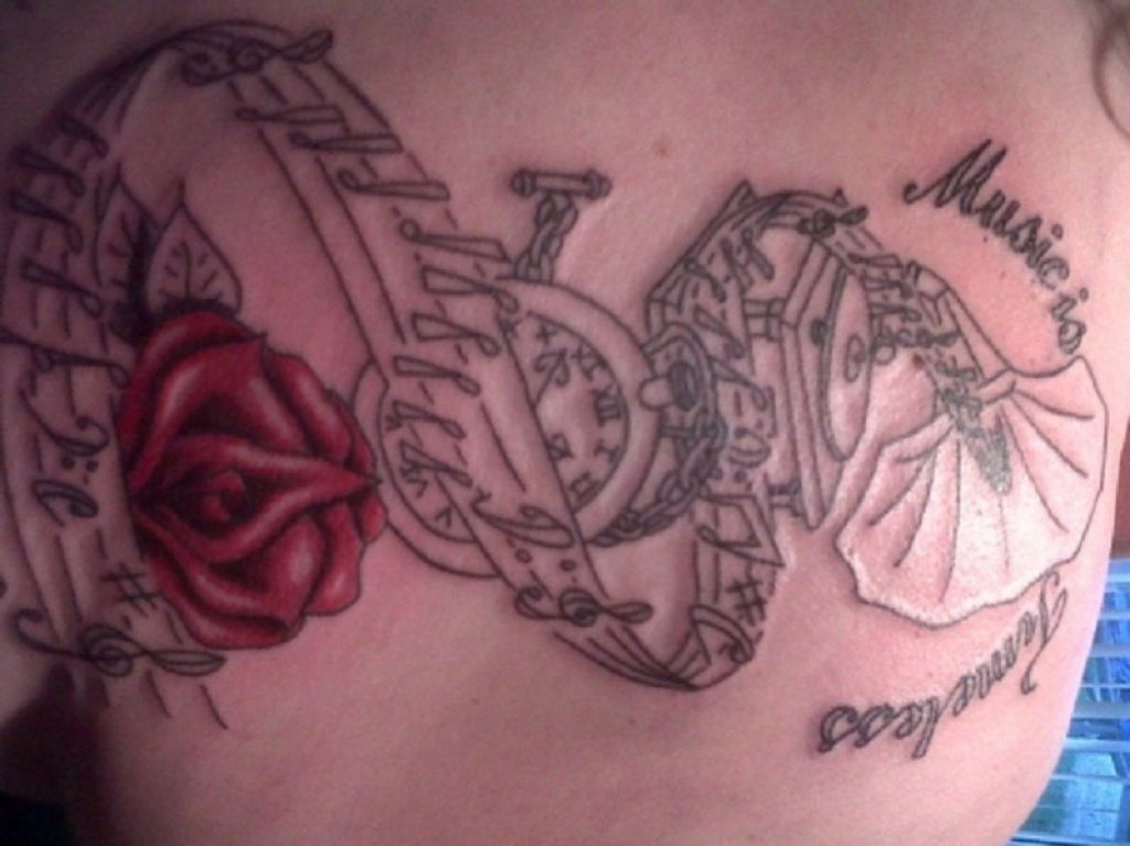 Back Tattoo Music Is Timeless Romance For Music Lovers Pictures