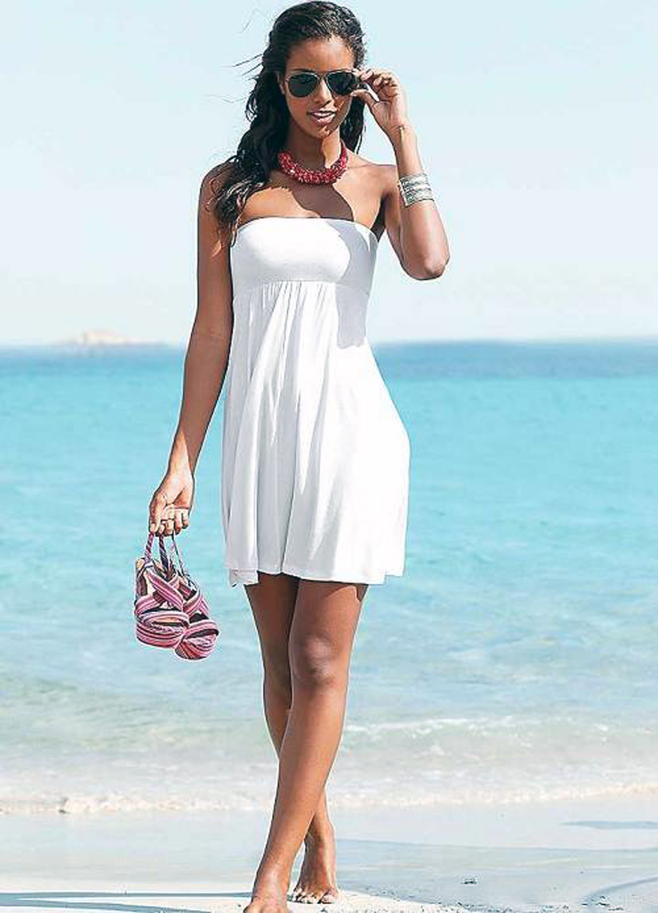 Beach Dress White Designs