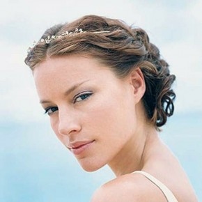 Beach Wedding Hairstyles Flowers Tiara Pictures
