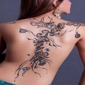 Beautiful Blue Black Tattoo Henna Pictures