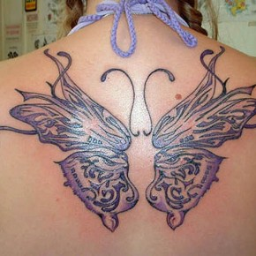 Beautiful Butterfly Pretty Tattoo Designs For Girls Pictures