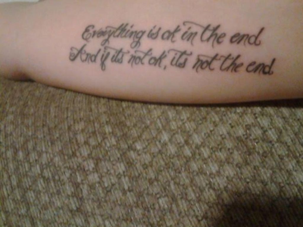 Beautiful Hand Tattoo Quote Pictures