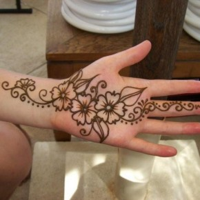 Beautiful Henna Tattoo For Palm Hand Pictures