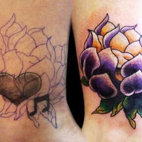Beautiful Leaves Tattoos Cover Up Ideas Pictures