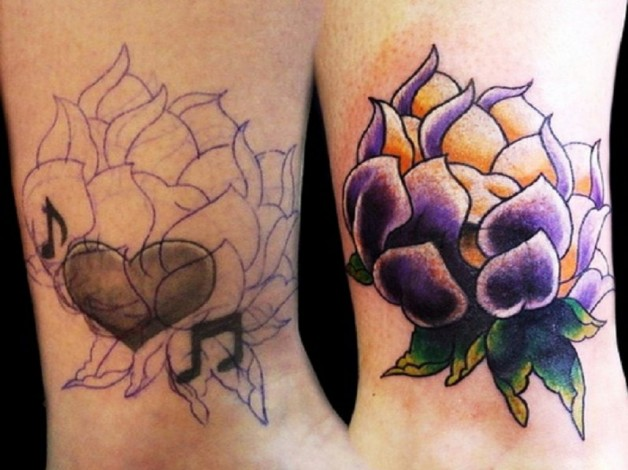 Beautiful Leaves Tattoos Cover Up Ideas