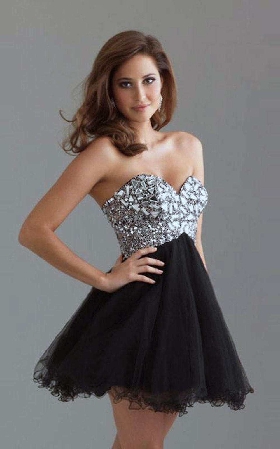 beautiful sparkly prom dresses short. Black Bedroom Furniture Sets. Home Design Ideas