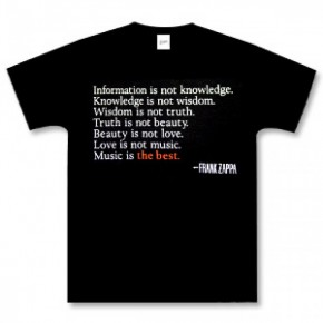 "Best T-Shirts For Women, Frank Zappa ""Music Is The Best"" T"