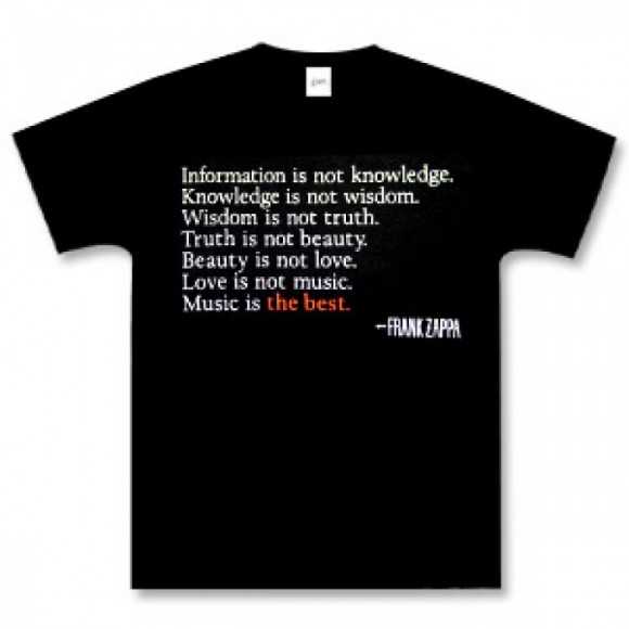 """Best T-Shirts For Women, Frank Zappa """"Music Is The Best"""" T"""