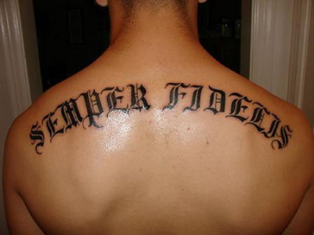 Best Upper Back Word Tattoos Pictures