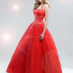 Big Puffy Prom Dresses Red Pictures