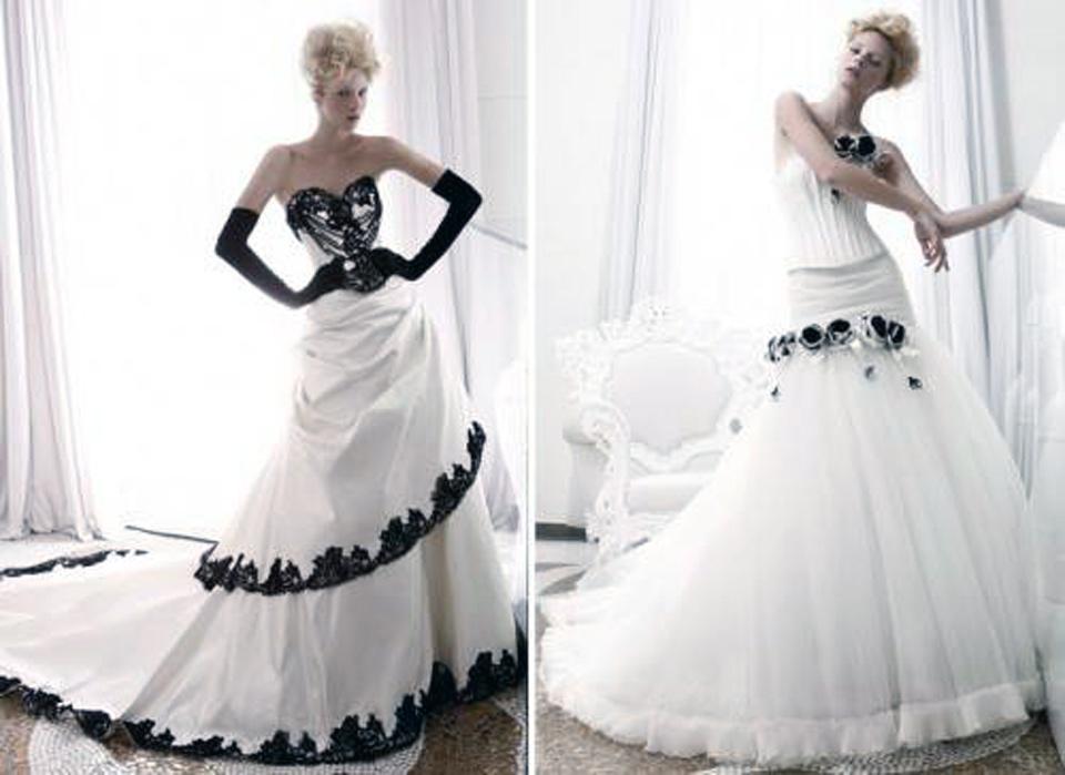 Black And White Wedding Dresses 2013