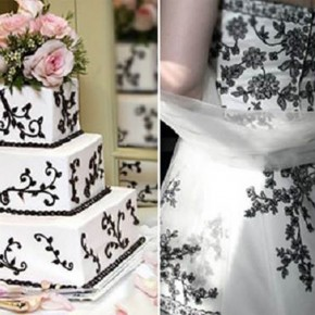 Black And White Wedding Dresses For Sale Pictures