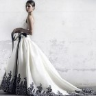 Black And White Wedding Dresses Plus Size Pictures