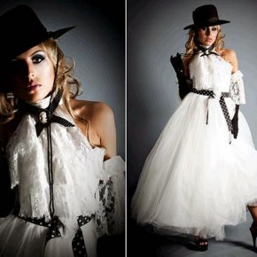 Black And White Wedding Dresses Uk Pictures