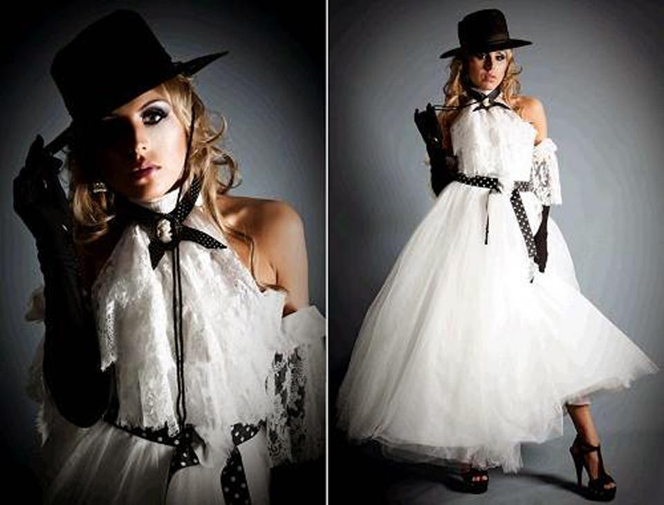 Black And White Wedding Dresses Uk