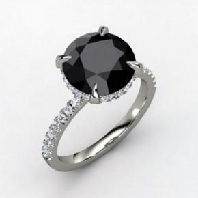Black Diamond Rings Princess Cut Pictures