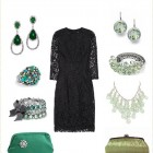 Black Dress Accessories For Wedding Pictures