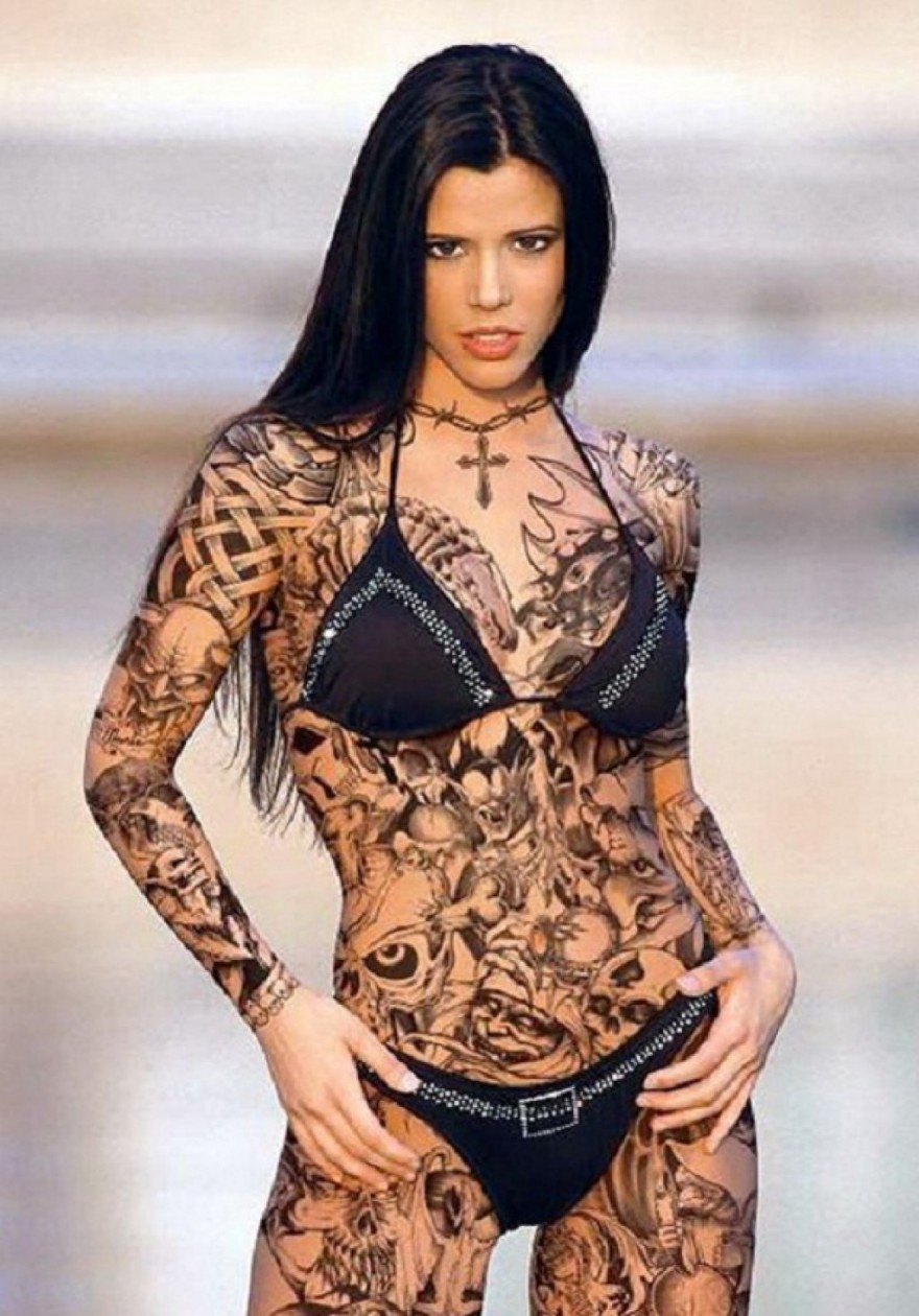 Black Full Body Tattoo For Women Pictures : Fashion Gallery - Flower Girl Hairstyles