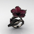 Black Gold Rings For Women Pictures