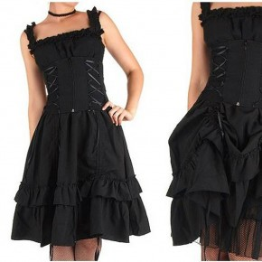 Black Gothic Dresses Short Pictures