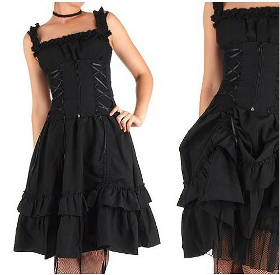 Black Gothic Dresses Short