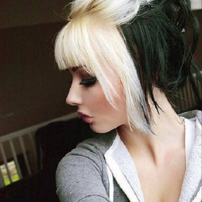 Black Hair With Blonde Bangs Best Pictures