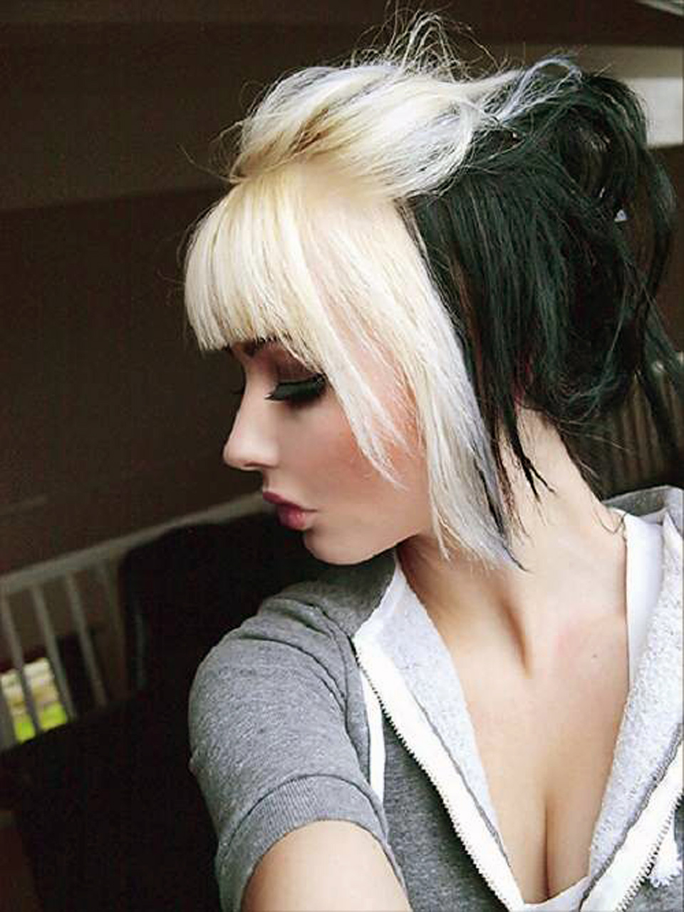 Black Hair With Blonde Bangs Best