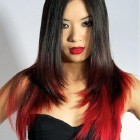 Black Hair With Red Highlights On The Bottom Pictures