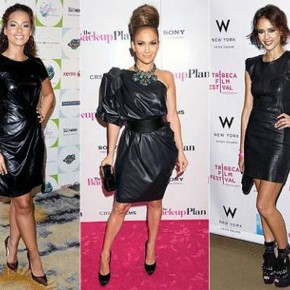 Black Leather Dress Outfits Images Pictures