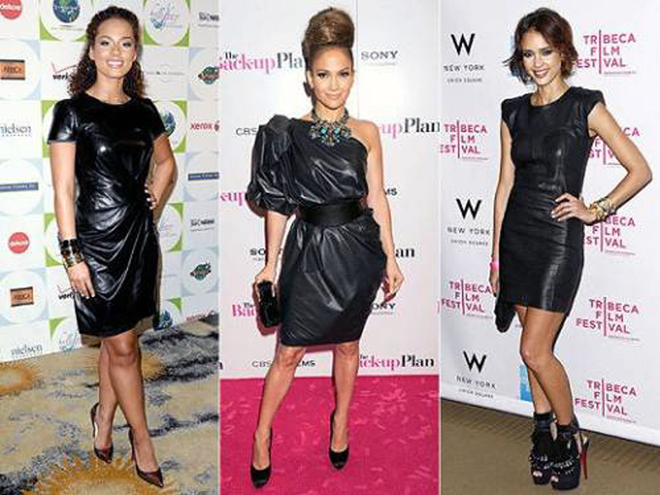 Black Leather Dress Outfits Images