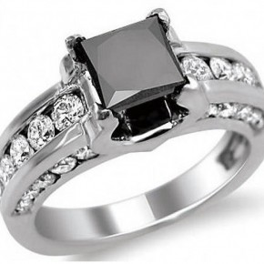 Black Princess Cut Wedding Rings Images Pictures