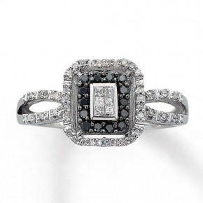 Black Princess Cut Wedding Rings Jared Pictures