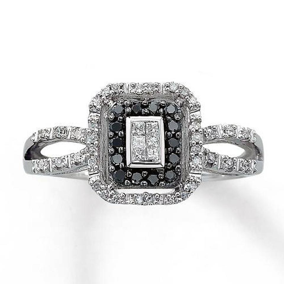 Black Princess Cut Wedding Rings Jared