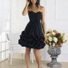 Black Puffy Short Dress 2013 Pictures