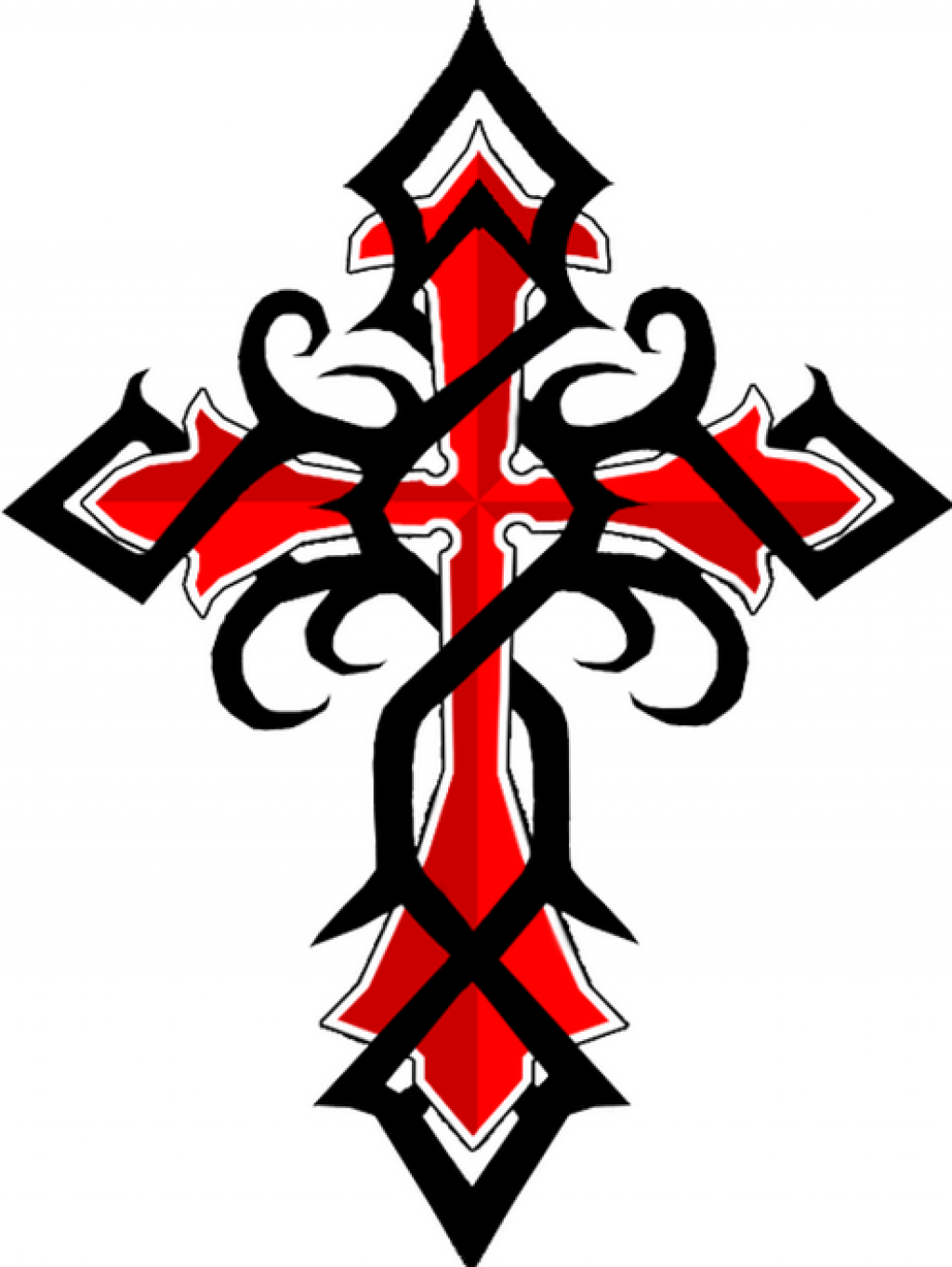 Black Red Celtic Cross Tattoos Pictures