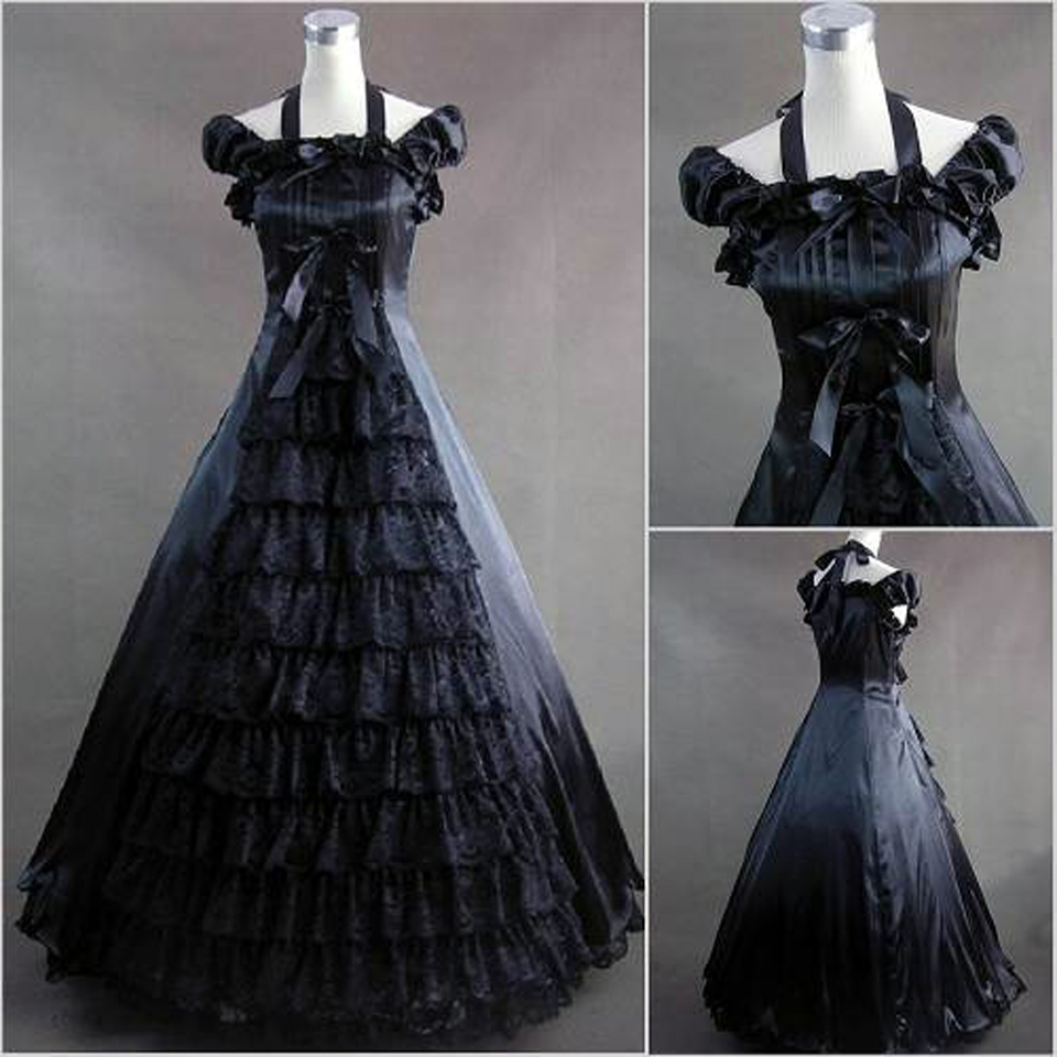 Black Victorian Dresses For Sale - Inofashionstyle.com