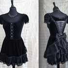 Black Victorian Dresses Short Pictures
