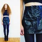 Black Vinyl Mini Skirt 2013 Pictures